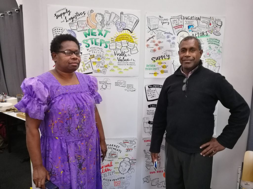 Mary and Jack in Melbourne at the Pacific Menstrual Health Workshop in September 2018